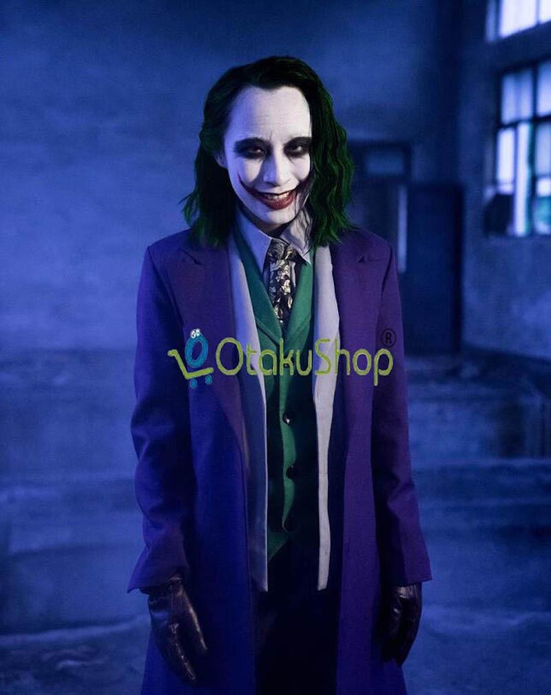 Cute Unicorn Batman The Dark Knight Joker full set Cosplay Costume Movie Joker Suit Outfits Halloween Costumes Custom Made