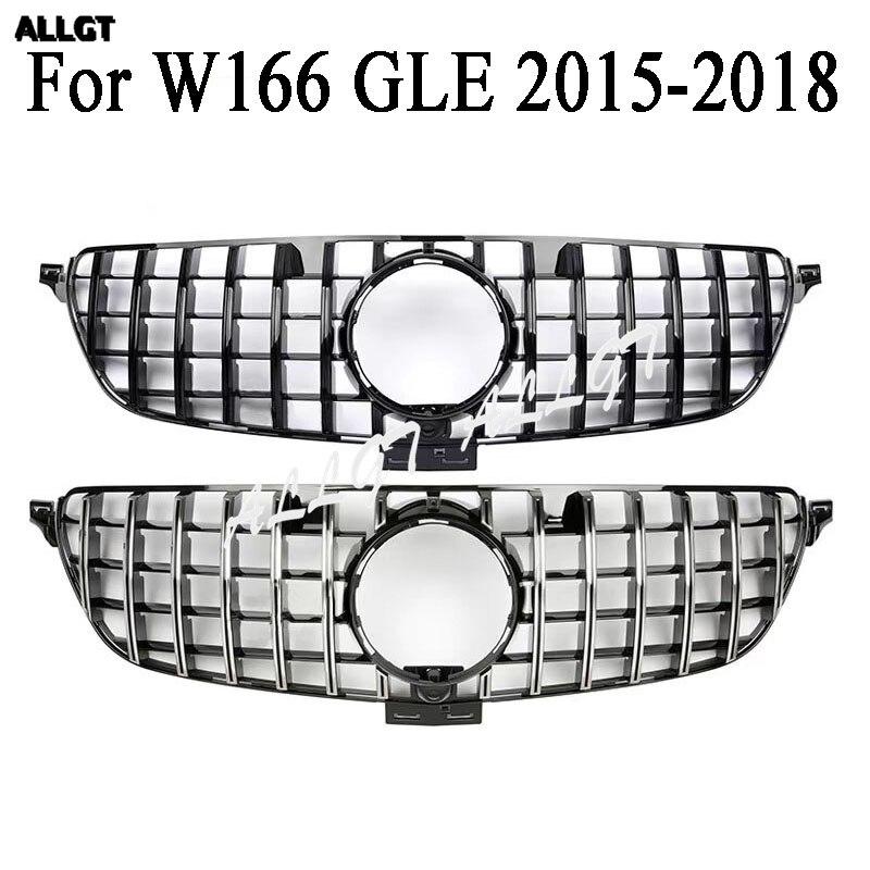 Calandre avant pare-chocs GT calandre pour Mercedes Benz W166 GLE classe GTR noir argent GLE400 GLE500 GLE350 GLE43 2015 2016 2017 2018