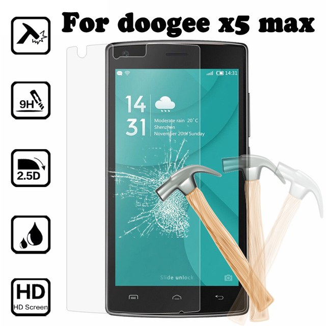 Защита экрана закаленное Стекло Для Doogee X5 Max Взрывозащищенный Премиум Защитный Плёнки Чехол Для Doogee X5 Max случае