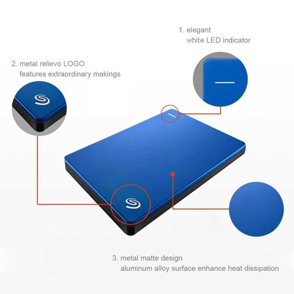 "Seagate External Hard Drive Backup Plus 2.5"" Portable HDD 5400rmp 1TB 2TB 4T USB 3.0 External Hard Drive Disk disco duro externo-in External Hard Drives from Computer & Office    3"