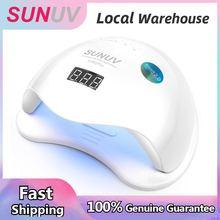 SUNUV SUN5 artı 48W tırnak lambası UV led ışıklı tırnak kurutucu sun5plus için büyük boy çift eller jeller otomatik sensör alt tepsi lcd ekran