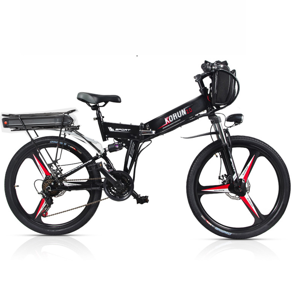 Custom 26inch Electric bicycle 48V Three lithium battery electric mountain font b bike b font smart