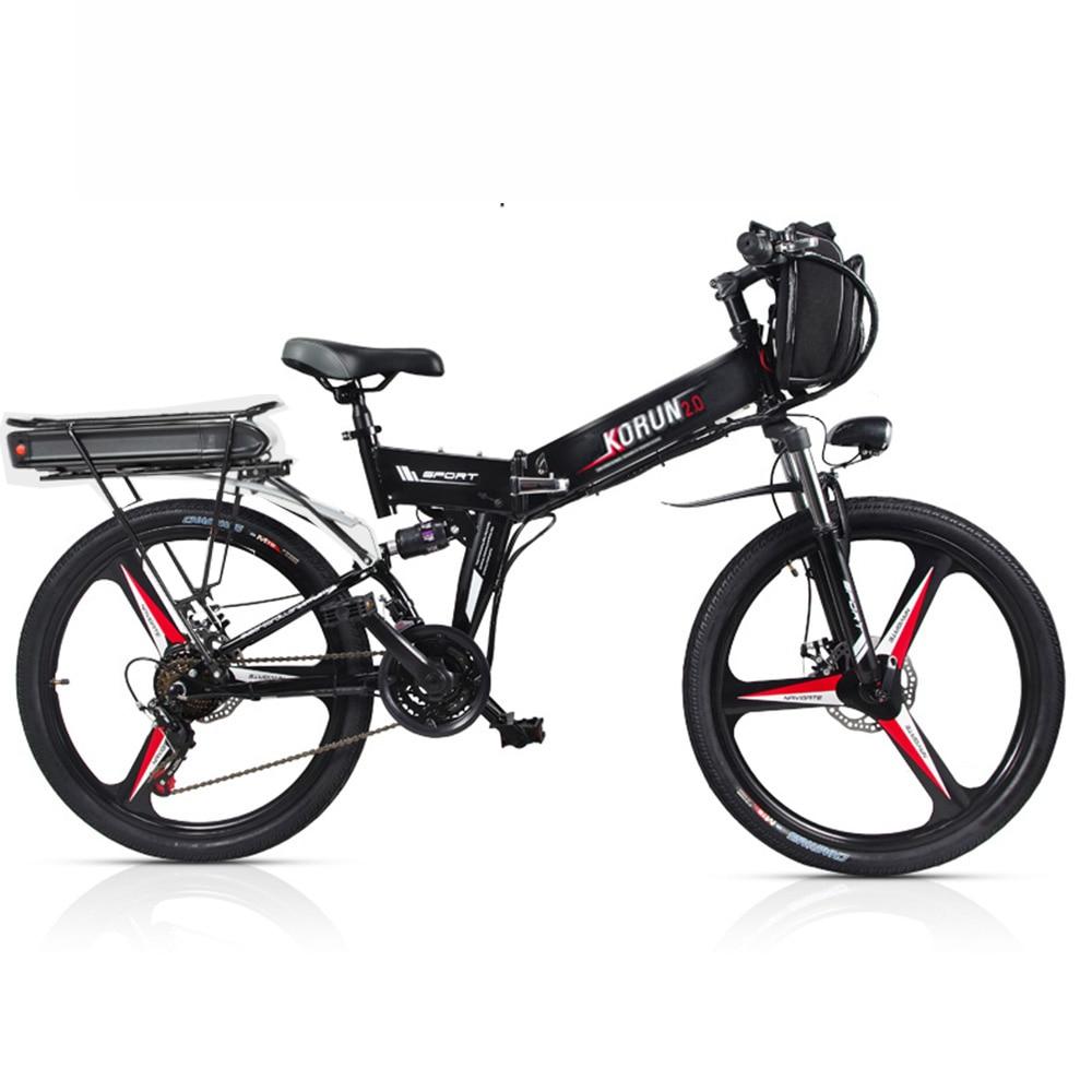 Personnalisé 26 pouces vélo Électrique 48 V Trois batterie au lithium vtt électrique smart aider hybride ebike a sonné 200-250 km ebike