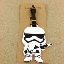 2018 Mala Reizen Accessoires Bagage Tag Star Wars Q Versie Pionnen Gun Anime Cartoon Silicagel Bagage Boarding Draagbare Label(China)