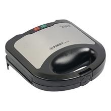 Сэндвич-тостер FIRST FA-5337-3 Black (Мощность 800 Вт, вместимость отсека 2 сэндвича, антипригарное покрытие, защита от перегрева, Световая индикация включения)
