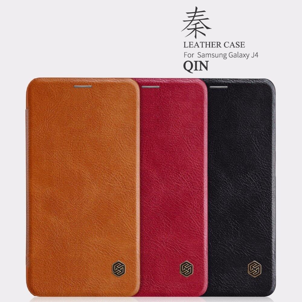 Nillkin QIN PU leather Case for Samsung Galaxy J4 J6 J7 J5 J3 J2 Pro 2018 2017 Max DUO Card Pocket bag flip cover