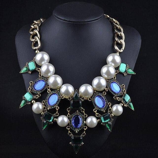 Aliexpresscom Buy Retro Vintage Crystal Necklaces Statement
