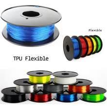 Filamento flexível da elasticidade do filamento do filamento do tpu 3d do filamento do plástico de 1.75mm tpu filamento da impressora do filamento 3d imprimora 3d 1.75mm tpu