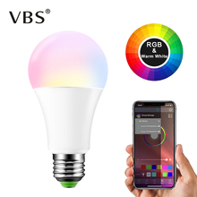 15W Ampoule LED E27 B22 RGBW Bluetooth Light Bulb 20 Modes M