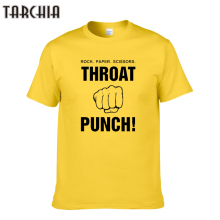 TARCHIA 2016 fashion funny summer throat punch t-shirt cotton tops tees men short sleeve boy casual homme tshirt t shirt plus