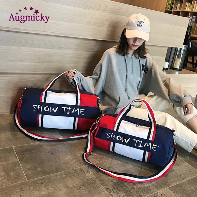 Image 4 - Dry and wet separation Fitness bag Cylinder waterproof Travel portable sports bags sport bolsa tassen tas gym Shoulder Handbag-in Laptop Bags & Cases from Computer & Office