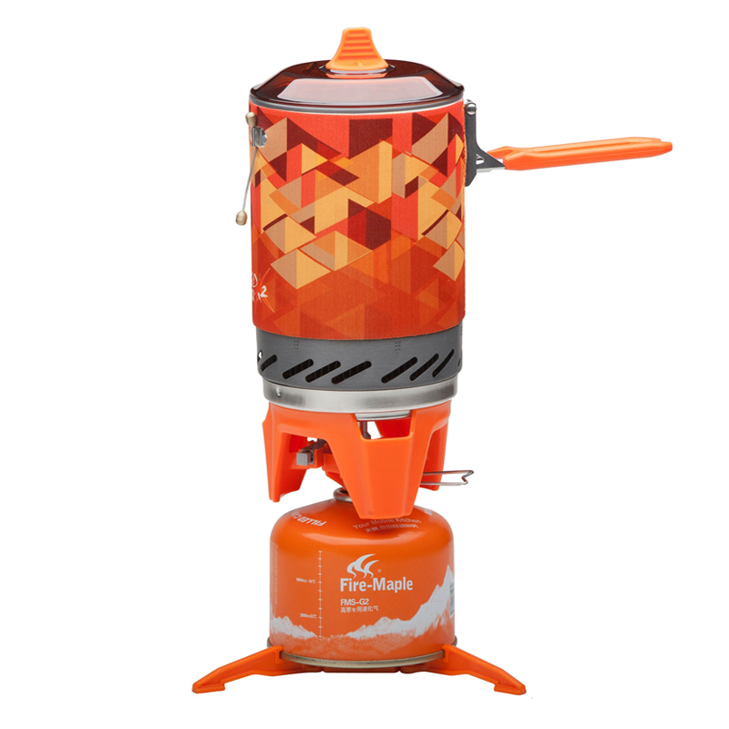 ФОТО Fire-maple Camping Cooking Set Heat Collection Pot Outdoor Cookware Picnic Stove FMS-X2/FMS-X3