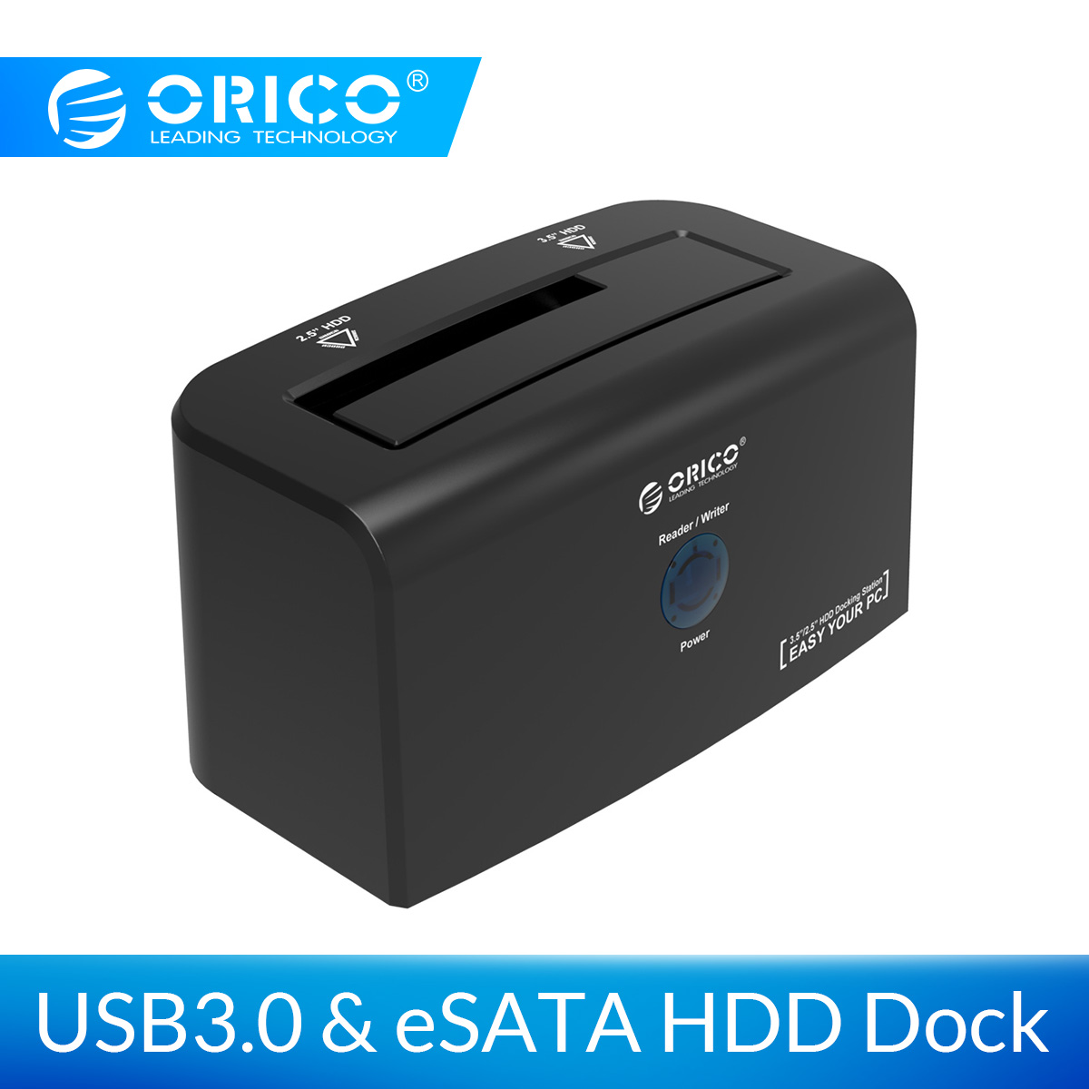 ORICO 2.5 3.5 HDD Docking Station 2.5 inch & 3.5 inch eSATA Hard Drive Enclosure with Power Supply for WD Hard Disd