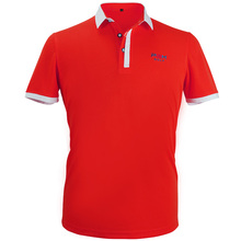 Newest Golf Clothes Men's Shirt Short Sleeve POLO TShirt Summer Breathable Fit Running Sport Shirts (Red) Apparel