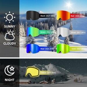 Image 5 - купон  65,78 руб Wildmtain Горнолыжные Очки с Антизапотевающее внутреннее покрытие и 100% от ультрафиолетового A B C излучения до 400нм сноуборда лыжные очки