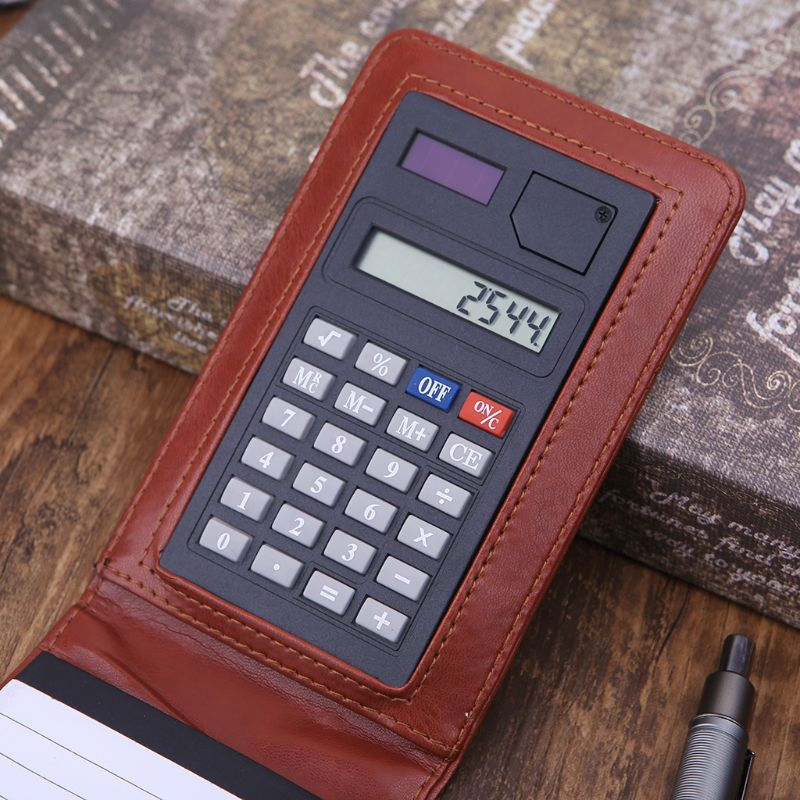 Pocket A7 Notebook Leather Cover Notepad Memo Diary Planner With Calculator Business Work Office Supplies  Pocket A7 Notebook Leather Cover Notepad Memo Diary Planner With Calculator Business Work Office Supplies