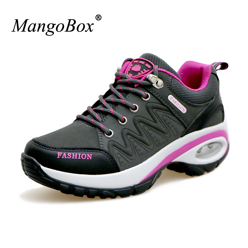 2016 New Hiking Shoes Women Outdoor Sport Boots Autumn/Winter Trekking Walking Shoes Ladies Purple/Red Mountain Climbing Boots