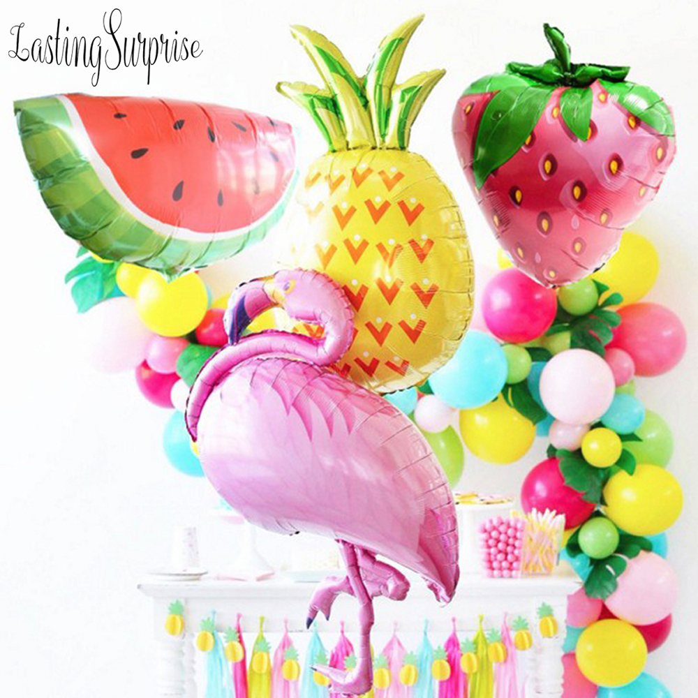Pineapple Dinosaur Party Flamingo Balloon Birthday Party Decoration Kids Adult Valentines Day Decor Dinosaur Party Air Balloons