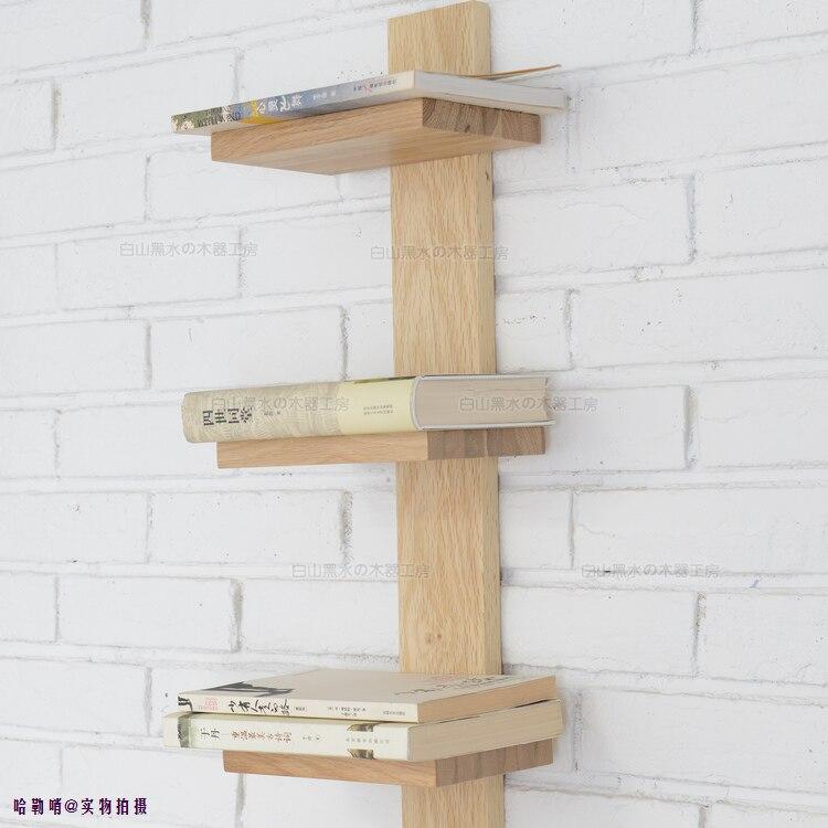 Plank Aan Wand.Eiken Wandplank Wandplank Hout Boekenkast Boekenkast Plank Wand