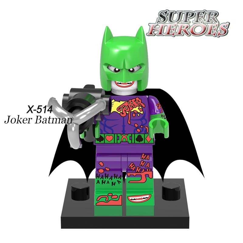 Joker Batman Diy figures Green The Dark Knight Building Blocks Superhero Deadpool Star Wars Model Bricks Kids DIY Toys XINH 451 building blocks calendar people joker harley quinn 2017 batman movie diy figures superhero deadpool bricks kids diy toys hobbies