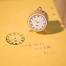 Деревянные часы в винтажном стиле zakka с рисунком ручное управление