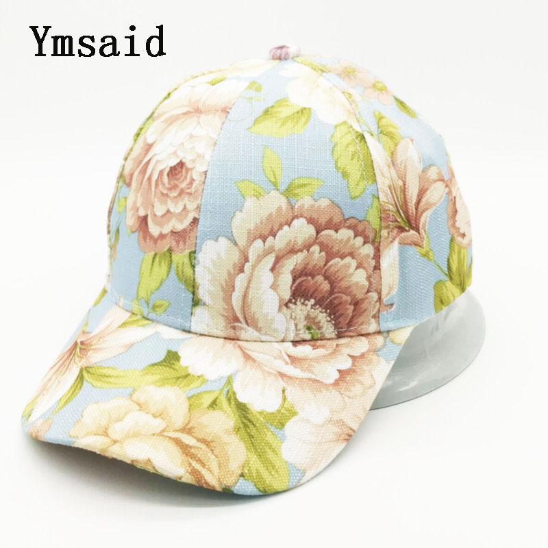 2017 Fashion Men Women Baseball Cap Snapbacks Printing Flowers Couple Hip Hop Hats High Quality Cotton Caps Bone fashion printed skullies high quality autumn and winter printed beanie hats for men brand designer hats