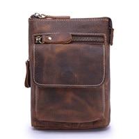 Vintage Genuine Leather Casual Multi functions Bag Men's Leg Bum Hip Waist Pack Belt Phone Organizer Shoulder Messenger Bag 1127
