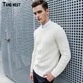 Tangnest estilo suéter de los hombres 2017 nuevos hombres de la manera ocasional sólido del o-cuello suéteres de otoño masculino combinación simple suéter de calidad superior mzm493