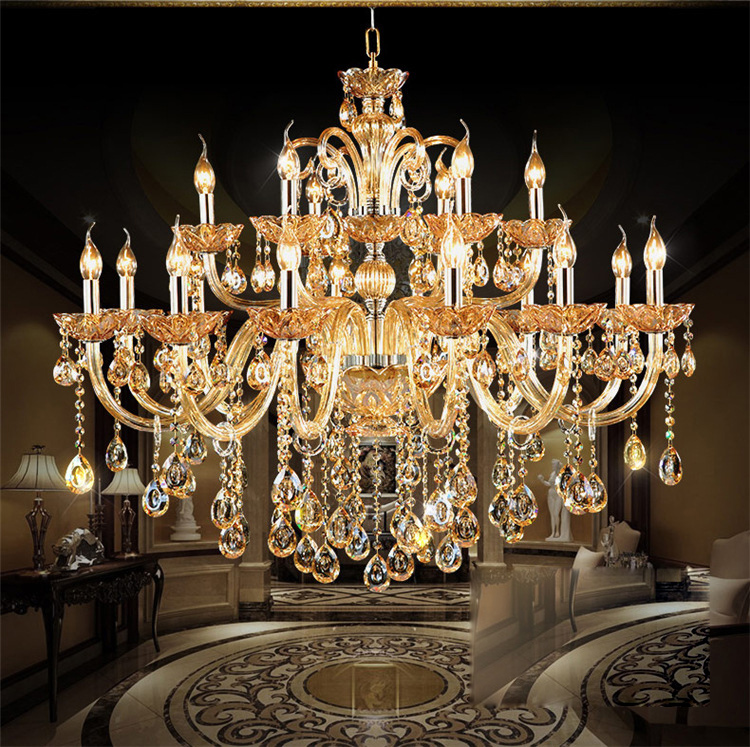 Luxury Modern Crystal Chandeliers Lighting Contemporary Pendant Chandelier Ceiling forLights Fixture for Dining Room Living room