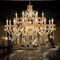 Modernos Lustres de Cristal de luxo Iluminação Pendant Contemporânea Chandelier Teto forLights Fixação para Sala De Jantar sala de estar