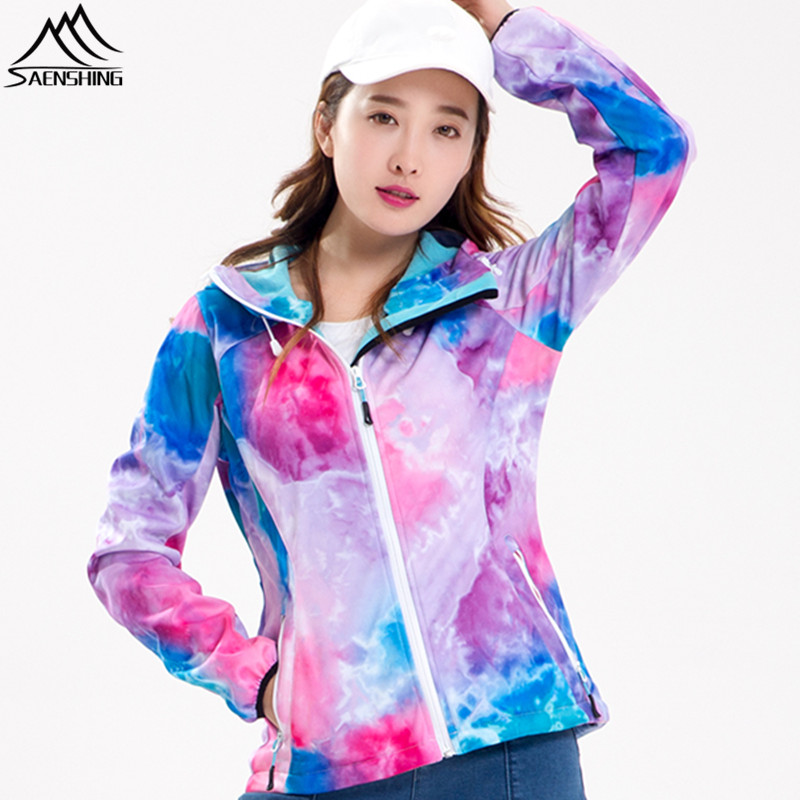 SAENSHING Gsou Snow Spring Softshell Jacket Waterproof Breathable Women's Windbreaker Outdoor Hiking Jacket Fleece Coat Female 2017 new camel outdoor spring summer skin clothing girls waterproof breathable windbreaker sun protective jacket a7s1u7178