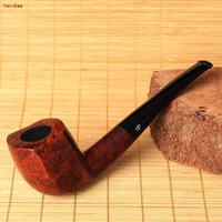 NewBee Free 10 Smoking Tools Kit Handmade Imported Briar Wood 9mm Filter Bent Tobacco Pipe For