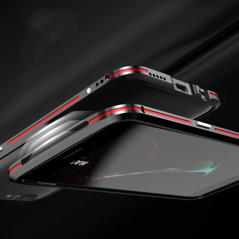 Цена за Luphie для OnePlus 5 Алюминиевый корпус металлический каркас случае двойной Цвет бампера для OnePlus 5 Роскошный металлический корпус