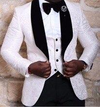 Esmoquin de dos botones hecho a medida para hombre, trajes de esmoquin para hombre, trajes de baile para hombre (chaqueta + Pantalones + chaleco + corbata), color negro, más vendidos, 2018