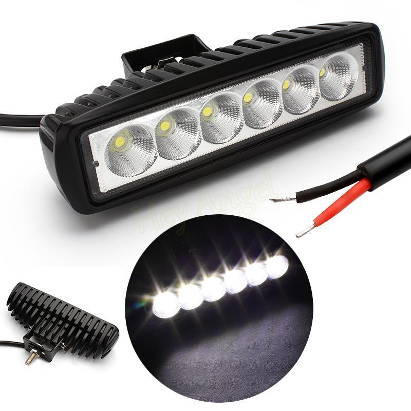 iTimo 6Inch 18W Mini LED Bar 12V LED Work Light Spot Flood Fog Lamp For Offroad Boat Truck 6 LED Driving Lights HA10546