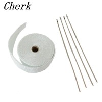 15M High Temp Exhaust Heat Wrap Heater Resistant Downpipe 10 Ties Car Tape Replacement For Car