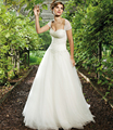 BacklakeGirls Elegant Sleeveless Long White Ivory Beaded Free Jacket A Line Wedding Dresses Custom Size Vestido De Novia