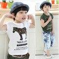 V-tree verano moda niños camisas de color camisetas niños niñas camiseta de los niños de algodón de manga corta tops ropa de bebé