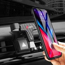 Para toyota camry 2018 2019 2020 acessórios do carro montagem de ventilação ar ajustável suporte do telefone móvel berço smartphone
