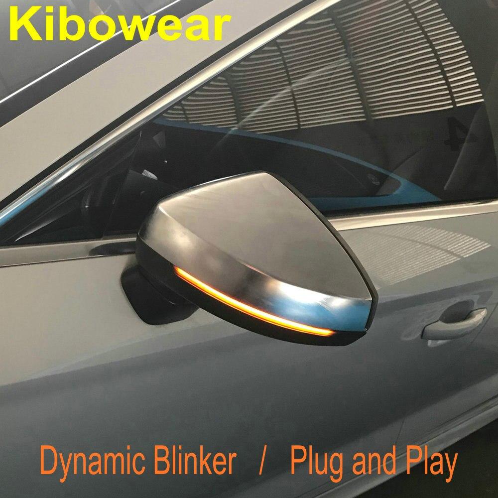 Kibowear pour Audi A3 8 v S3 S ligne Dynamique Côté Miroir lumière LED Clignotants Indicateur clignotant 2013 2014 2015 2016 2017 2018
