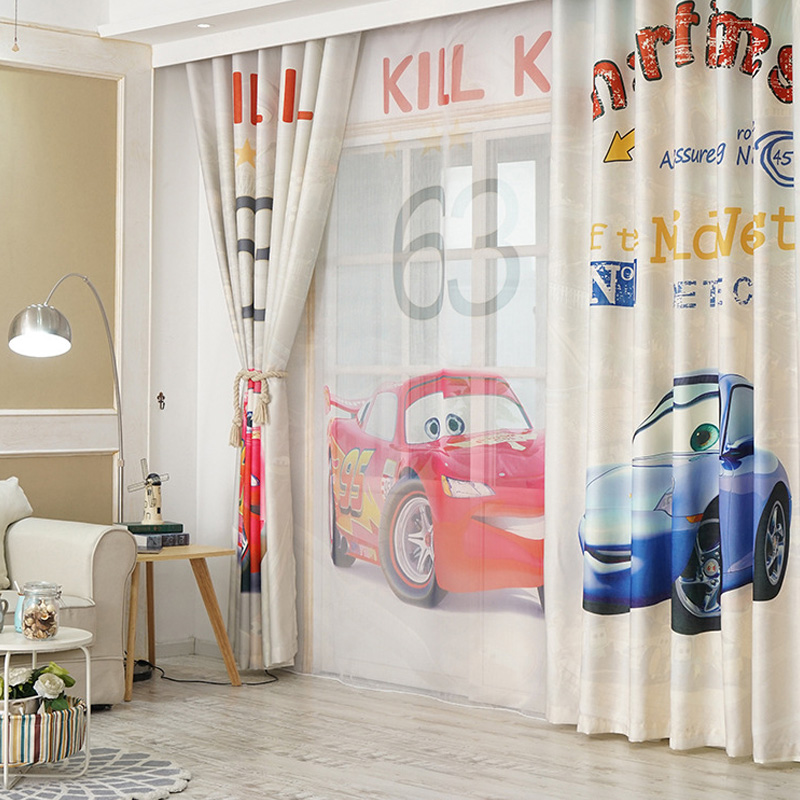 Online Shop 3D Print Catooon Cars Curtains For Children Room Kid Baby  Bedroom Living Room Drapes Panel Fotoshtory 1PCS | Aliexpress Mobile