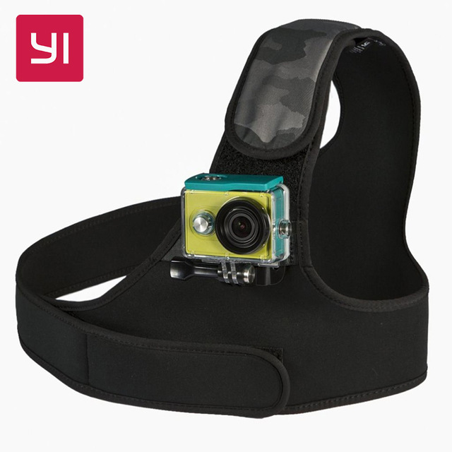 100% original xiaomi yi xiaoyi monte pecho hombro/correa de pecho monte para xiaoyi yi 4 k cámara de acción wifi cámara de deportes de acción