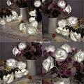 Colorido 20/30/40/50/80 LED Luzes Cordas de Fadas Bateria Operado Flor Rosa 2 M/3 M/4 M/5 M/10 M Wedding Party Xmas Decoração de Natal