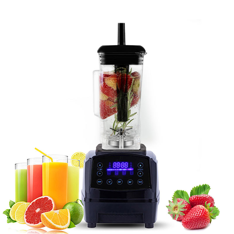 Touchscreen Digital Automatic Smart Timer 3HP BPA Professional Smoothies Blender Mixer Juicer Food Fruit Processor eu uk au plug 3hp bpa free commercial grade home professional smoothies power blender food mixer juicer food fruit processor