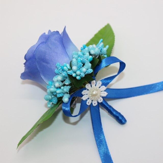 4 pcslot 100 handmade blue silk rose artificial flowers bridegroom 4 pcslot 100 handmade blue silk rose artificial flowers bridegroom groomsman flower corsage mightylinksfo