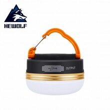 Hewolf светодиодное освещение для лагеря тент свет Многофункциональный Открытый свет Сверхлегкий ночник подвесной светильник батарея использовать зарядное устройство 2 версии