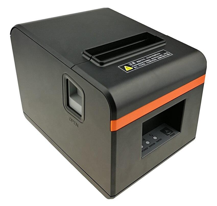 """חדש לגמרי 80 מ""""מ קבלה ביל מדפסת באיכות גבוהה קטן POS כרטיס אופנתי מראה אוטומטי חיתוך הדפסת מהיר"""
