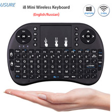 On sale Raspberry Pi 3 Keyboard with Touchpad Mouse i8 Mini 2.4G Wireless Mini Keyboard For Orange Pi PC Android TV Raspberry Pi 3 / 3B