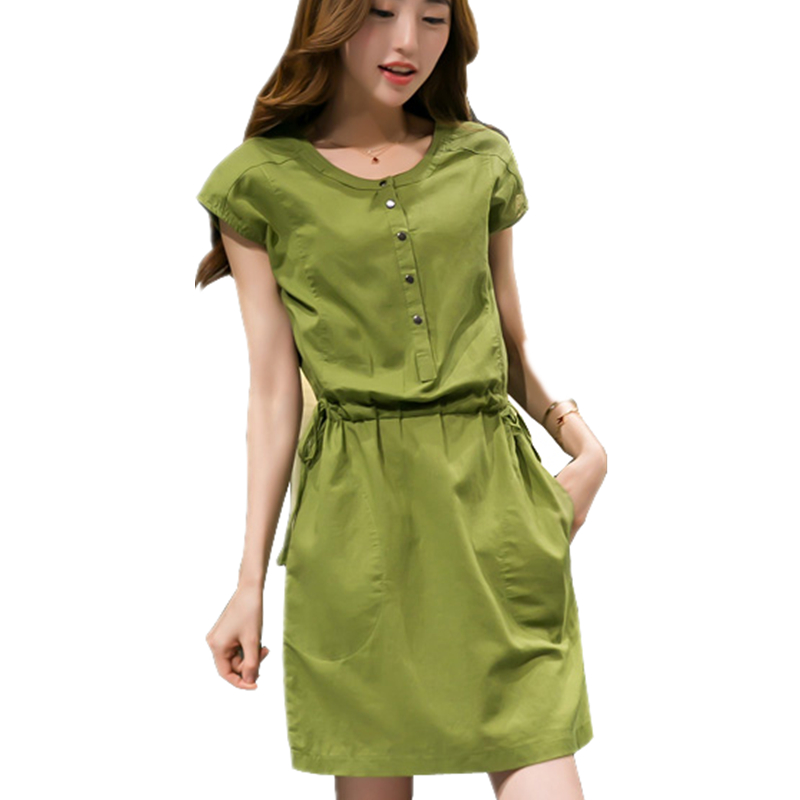 Images of Casual Cotton Summer Dresses - Reikian