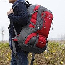 70L حقيبة الظهر مقاوم للماء في الهواء الطلق المشي لمسافات طويلة التخييم السفر الرحلات حقائب تسلق الجبال تسلق الظهر للنساء الرجال